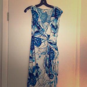 Boston Proper SZ 4 dress. Beautiful blue and white